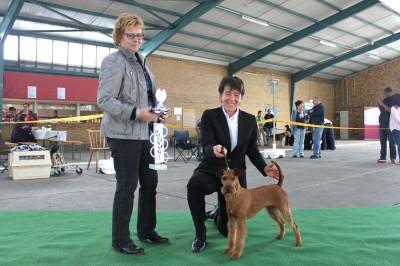 Best of Breed Reserve Best in Show Scooby-Doo Silvester von der Emsmühle Richterin: Mrs. Margret Möller-Sieber (D)  Der Endwettbewerb!