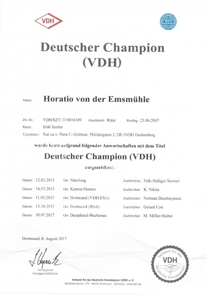 Horatio-VDH-Champ